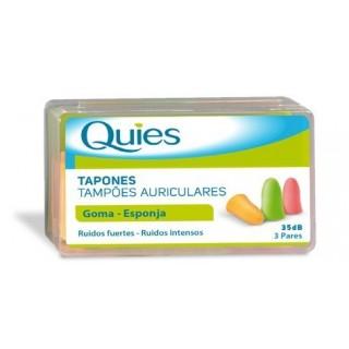 QUIES TAPONES OIDOS COLORES GOMA 6 U