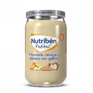 NUTRIBEN POTITO MANZANA, NARANJA Y PLATANO CON GALLETA 235 G