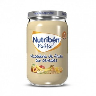 NUTRIBEN POTITO MACEDONIA DE FRUTAS CON CEREALES 235 G
