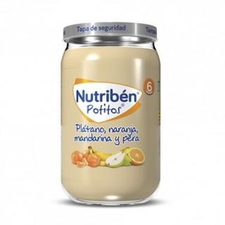 NUTRIBEN POTITO PLATANO, NARANJA  MANDARINA Y PERA 235 G