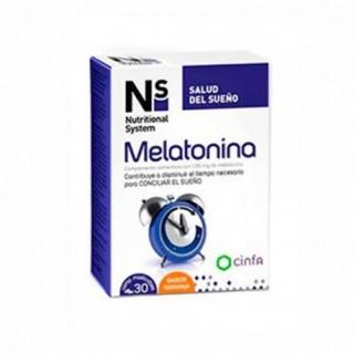 N+S MELATONINA COMP MASTICABLES NARANJA 1.95 MG 30 COMP