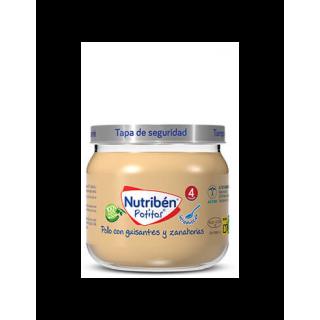 NUTRIBEN POTITO INTRODUCCION AL POLLO CON GUISANTES Y ZANAHORIAS 120 G