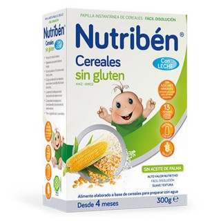 NUTRIBEN CEREALES SIN GLUTEN PAPILLA LECHE ADAPT